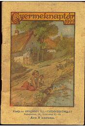 Gyermeknaptár 1922 - Régikönyvek