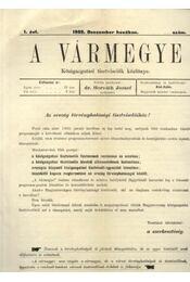 A Vármegye I. évf. (1902. december) - Régikönyvek