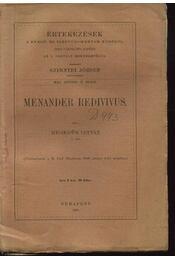 Menander redivivus - Régikönyvek