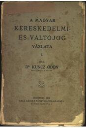 A magyar kereskedelmi- és váltójog vázlata I. - Régikönyvek