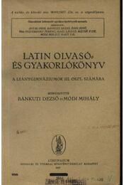 Latin olvasó- és gyakorlókönyv - Régikönyvek
