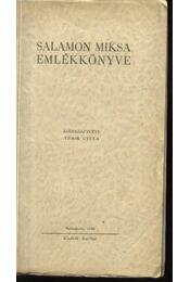 Salamon Miksa emlékkönyve - Régikönyvek