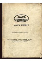 JAWA 350/634-8 Motorkerékpár kezelési utasítása - Régikönyvek