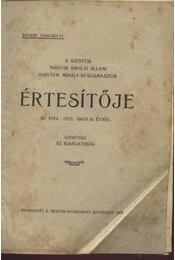 A Szentesi Magyar Királyi Állami Horváth Mihály-Reálgimnázium értesítője az 1924-1925. iskolai évről - Régikönyvek