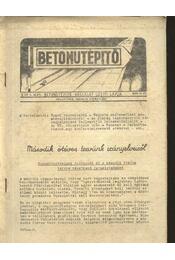Betonútépítő 1956. június - Régikönyvek