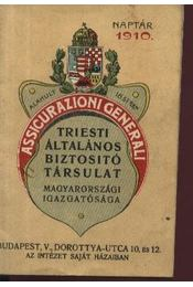 Triesti Általános Biztosító Társulat Naptár 1910 - Régikönyvek