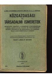 Közgazdasági és társadalmi ismeretek - Régikönyvek