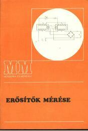 Erősítők mérése - Régikönyvek