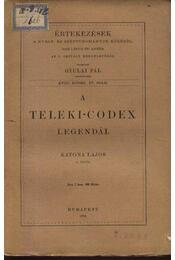 A Teleki-Codex legendái - Régikönyvek