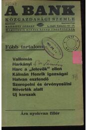 A Bank 1938. április - Régikönyvek