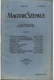 Magyar Szemle 1937 XXIX. kötet 3. (115.) szám. - Régikönyvek