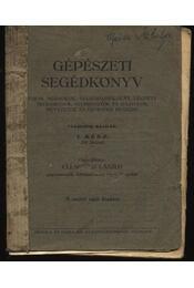 Gépészeti segédkönyv I. - Régikönyvek