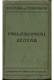 Philosophiai szótár - Régikönyvek