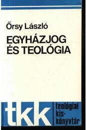 Egyházjog és teológia - Régikönyvek