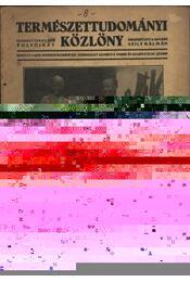Természettudományi Közlöny 1936. év (teljes) - Régikönyvek