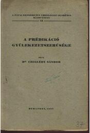 A prédikáció gyülekezetszerűsége - Régikönyvek