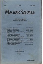 Magyar Szemle 1937. XXX. kötet 2. (118.szám) - Régikönyvek