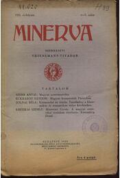 Minerva 1929 VIII.évfolyam 1-3.szám - Régikönyvek