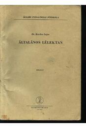 Általános lélektan - Régikönyvek