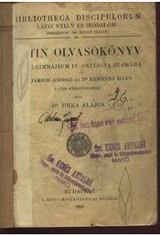Latin olvasókönyv - Régikönyvek