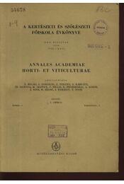 A kertészeti és szőlészeti főiskola évkönyve XXII. évfolyam 1958. 1-9. - Régikönyvek
