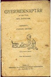 Gyermeknaptár 1923 - Régikönyvek