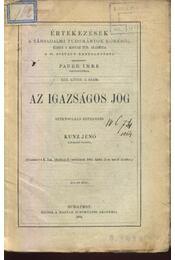 Az igazságos jog - Régikönyvek