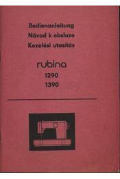 Rubina 1290; 1390 varrógép kezelési utasítás - Régikönyvek