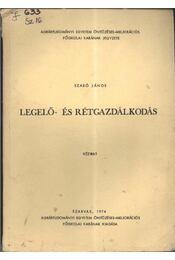 Legelő- és rétgazdálkodás - Régikönyvek