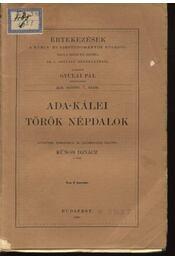 Ada-Kálei török népdalok - Régikönyvek