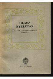 Olasz nyelvtan - Régikönyvek