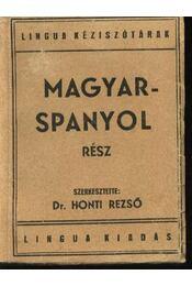 Magyar-spanyol, spanyol-magyar kéziszótár I-II. kötet - Régikönyvek