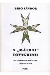 A mátrai lovagrend - Régikönyvek