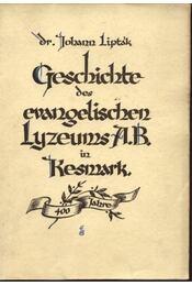 Geschichte des evangelischen Lyzeums A.B. in Kesmark - Régikönyvek