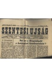 Szentesi lap 1947. május 25. vasárnap , Szentesi újság 1947. május 25. vasárnap - Régikönyvek