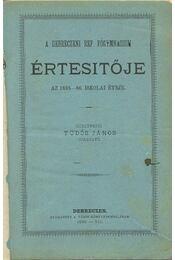 A Debreczeni Ref. Főgymnasium értesítője 1885-86 - Régikönyvek