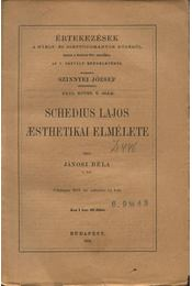 Schedius Lajos aesthetikai elmélete - Régikönyvek