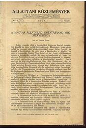 A magyar állatvilág kutatásának megszervezése - Régikönyvek