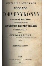 Ausztriai általános polgári törvénykönyv I- ll. kötet - Régikönyvek