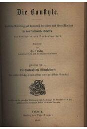Die Baustyle I-II. - Régikönyvek