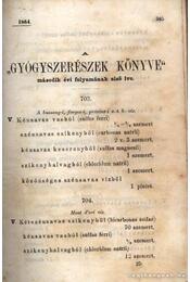 Gyógyszerészek könyve I. kötet - Régikönyvek