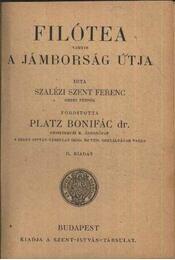 Filotea vagyis a jámborság útja - Régikönyvek