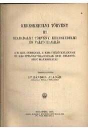 Kereskedelmi törvény III - Régikönyvek