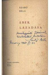 Ebek lázadása - Régikönyvek