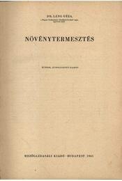 Növénytermesztés - Régikönyvek