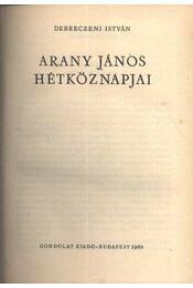 Arany János hétköznapjai - Régikönyvek