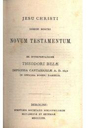 Novum Testamentum - Régikönyvek