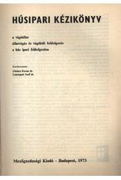 Húsipari kézikönyv - Régikönyvek