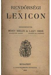 Rendőrségi Lexicon - Régikönyvek