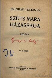Szűts Mara házassága - Régikönyvek